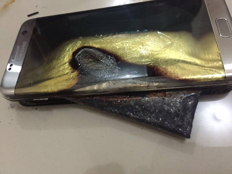 Samsung Galaxy S7 edge ระเบิด