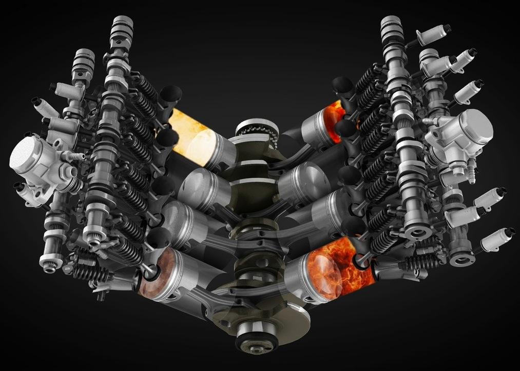 เครื่องยนต์ V8