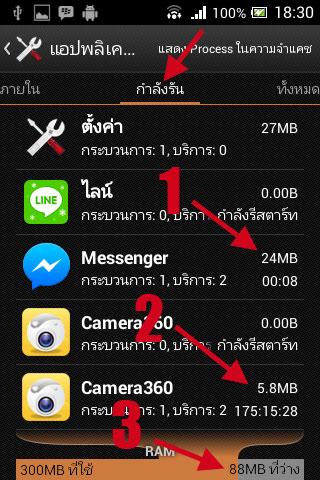 หน่วยความจำ Ram Android