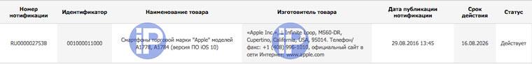 iPhone 7 และ iPhone 7 Plus ได้แก่ A1778 และ A1784