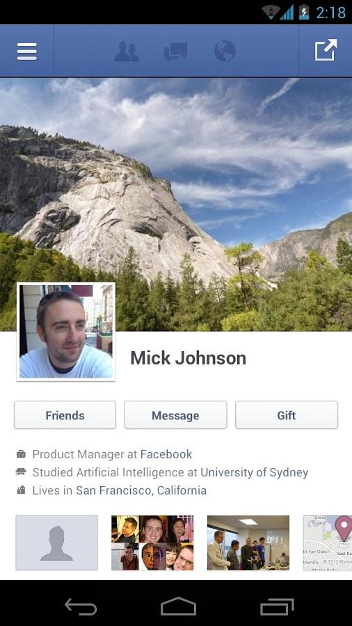 Facebook สำหรับ Android