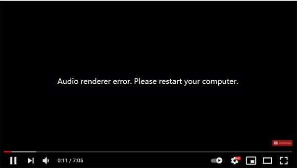 Audio renderer error. Please restart your computer.