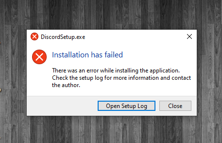 Discord : Installation has failed