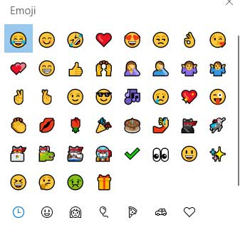 Emoji Windows 10 1809