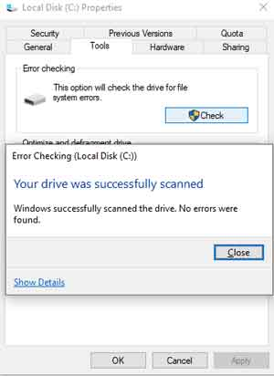 Error Checking Succedssfully