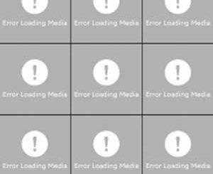 Error Loading Media