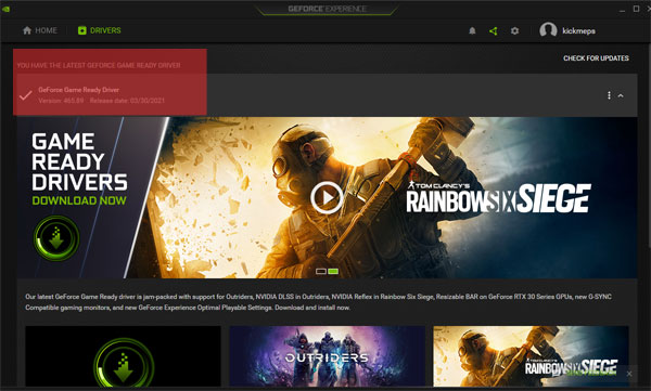 GeForce Experience Driver