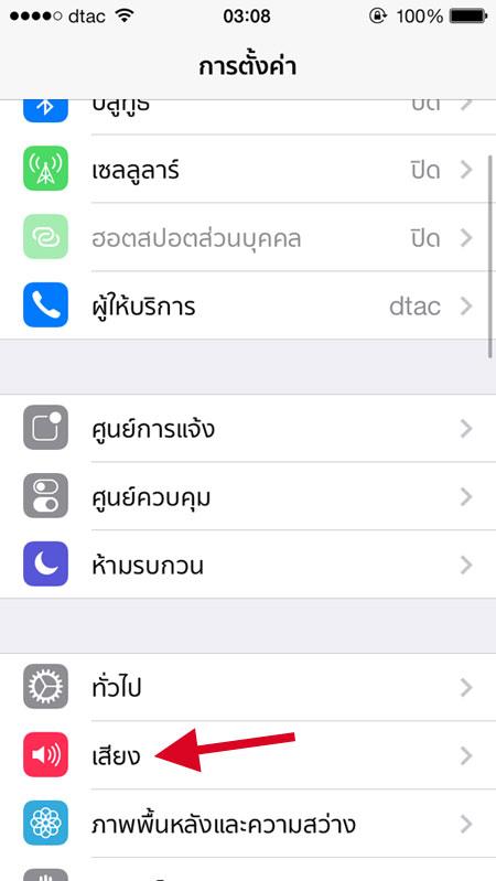 รับเสียง iPhone