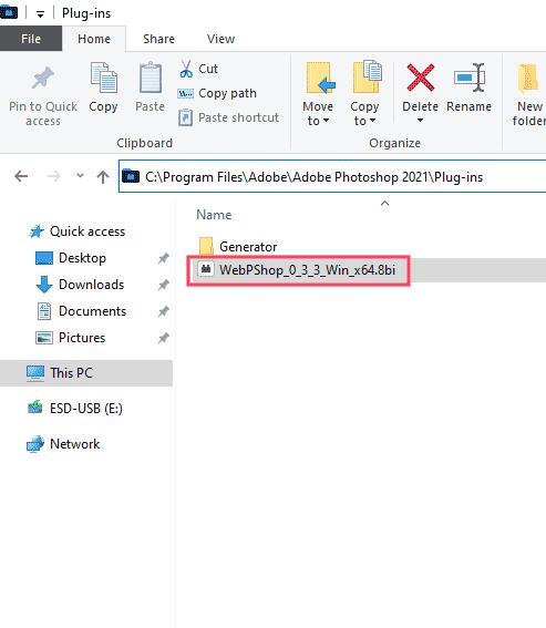 ติดตั้ง WebPshop Photoshop Windows