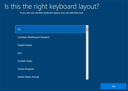 Is this the right keyboard layout?