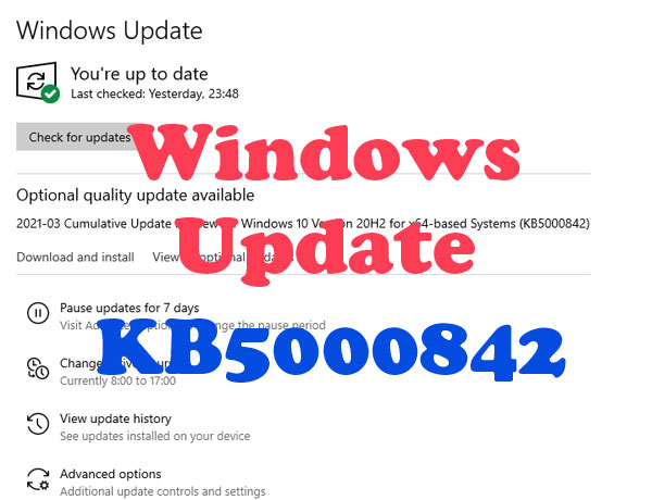 Windows Update KB5000842