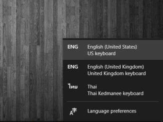 Language Windows 10
