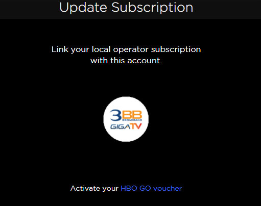 Link your local operator subscription with this account.