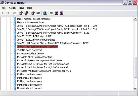 Management Engine Interface Driver