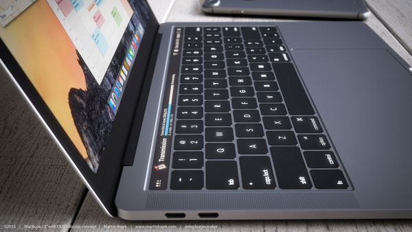Macbook Pro OLED touch bar