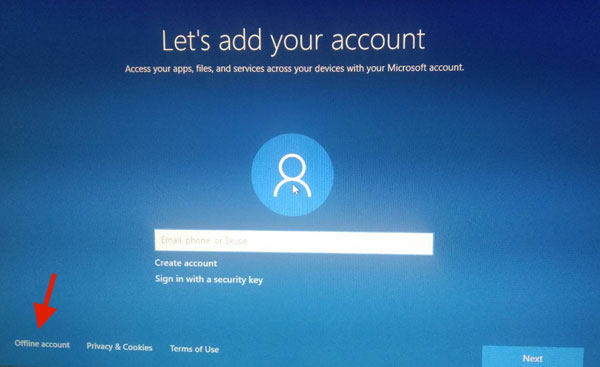 Offline Sign in with Microsoft