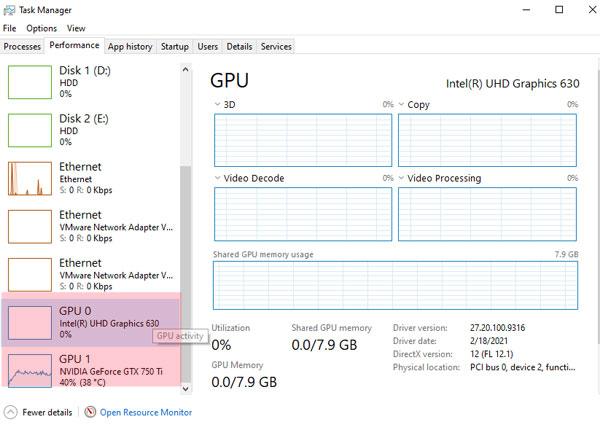 Performance GP0 GPU1