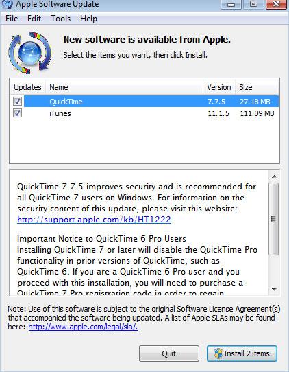 QuickTime 7.7.5