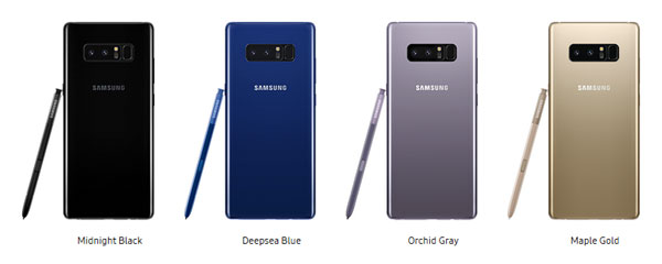 สี Samsung Galaxy Note 8