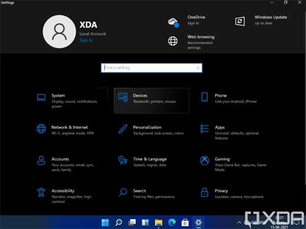 Setting Windows 11