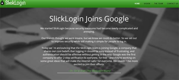 SlickLogin-Joins-Google