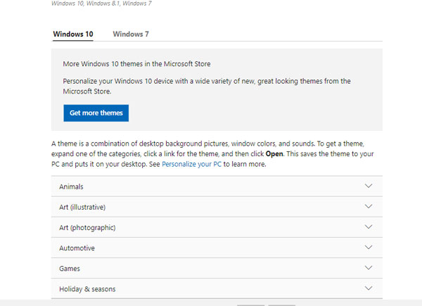 Thme Windows 10 Website