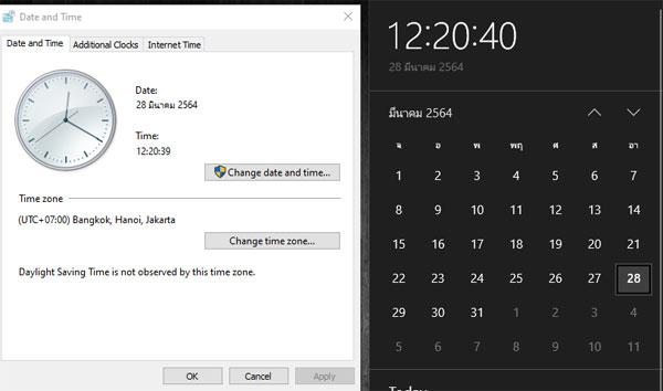 Time Windows 10