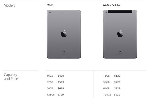 ราคา iPad Air