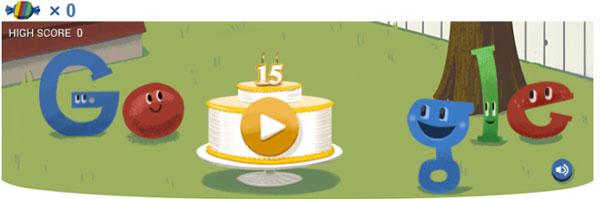 Google ครบรอบ 15 ปี