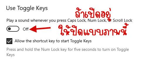 Use Toggle Keys