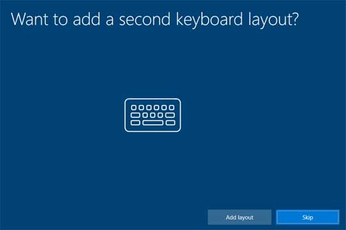 Want to add asecond keboard layout?