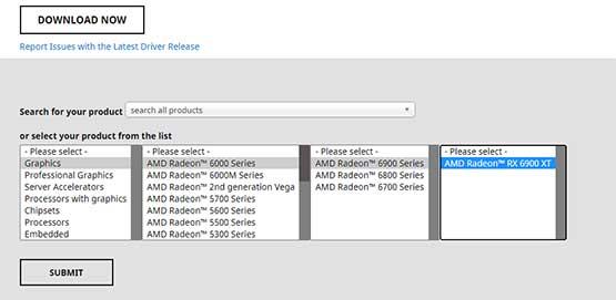ดาวน์โหลดไดร์เวอร์การ์ดจอ AMD
