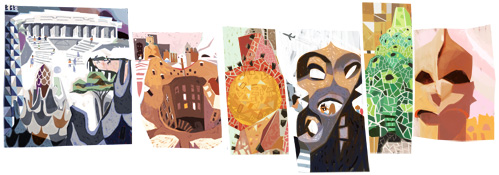 antoni gauds 161st birthday Doodle By Google