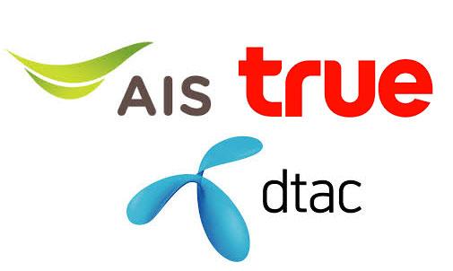 Dtac, AIS, True