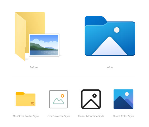 file explorer icons Windows 10