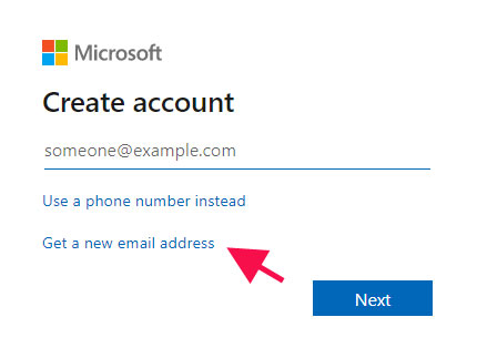 get a new email address