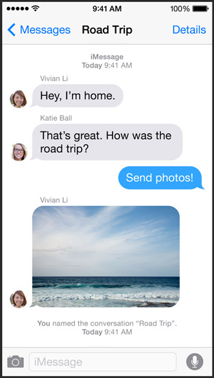 iMessage iOS 8