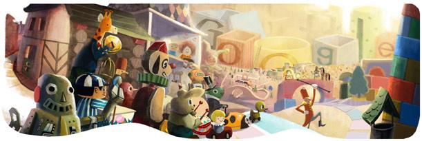 สุขสันต์วันดีๆ Doodle by Google