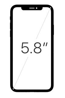 ขนาดหน้าจอ iPhone X