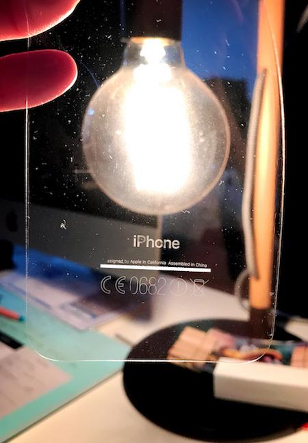 iPhone 7 สี jet black ลอก