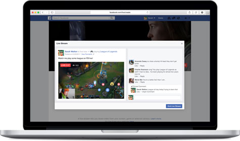 Facebook Live จากคอมพิวเตอร์