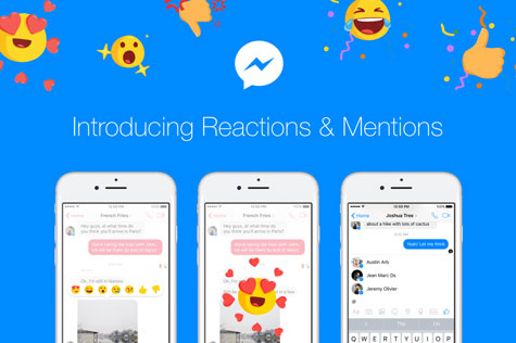 Introducing Message Reactions and Mentions for Messenger