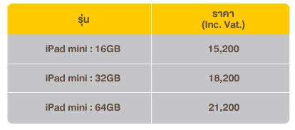 ราคา iPad Mini จาก AIS