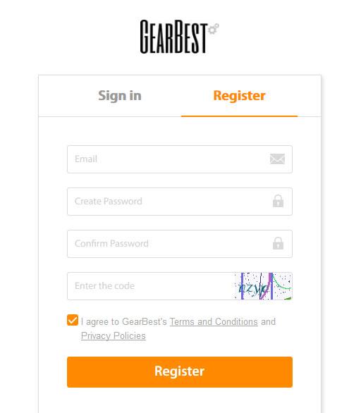 register gearbest