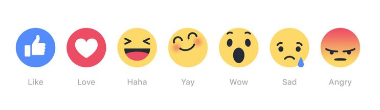 Facebook ใช้ปุ่มแสดงอารมณ์
