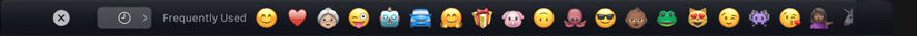 touch bar emoji