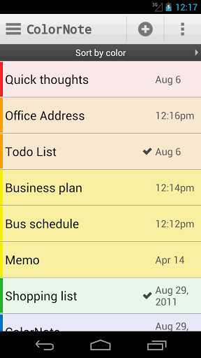 note app for android