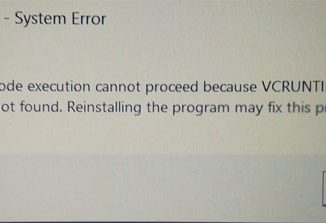 The code execution cannot proceed because vcruntime140.dll was not found. Reinstalling the program may fix this problem.